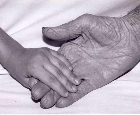 little hand touchies older hand