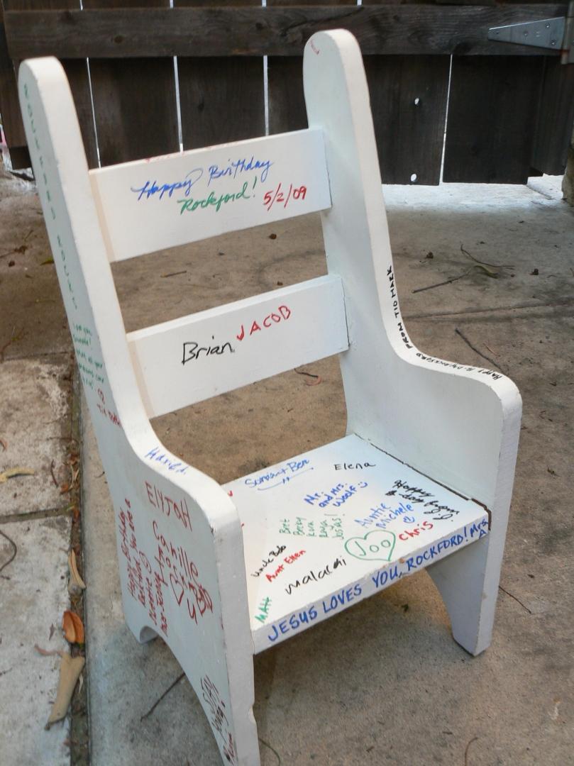 little wooden chair