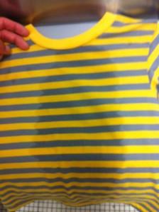 little kid's shirt gets wet