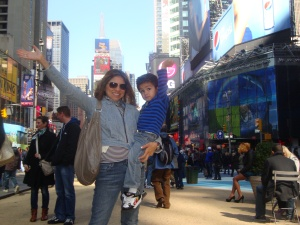 Mom and Son in New York City