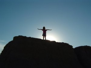 rejoicing on a hill