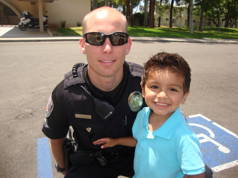 policeman and toddler