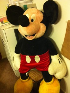 big stuffed mickey mouse