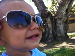 toddler and shades