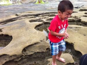 little boy upset