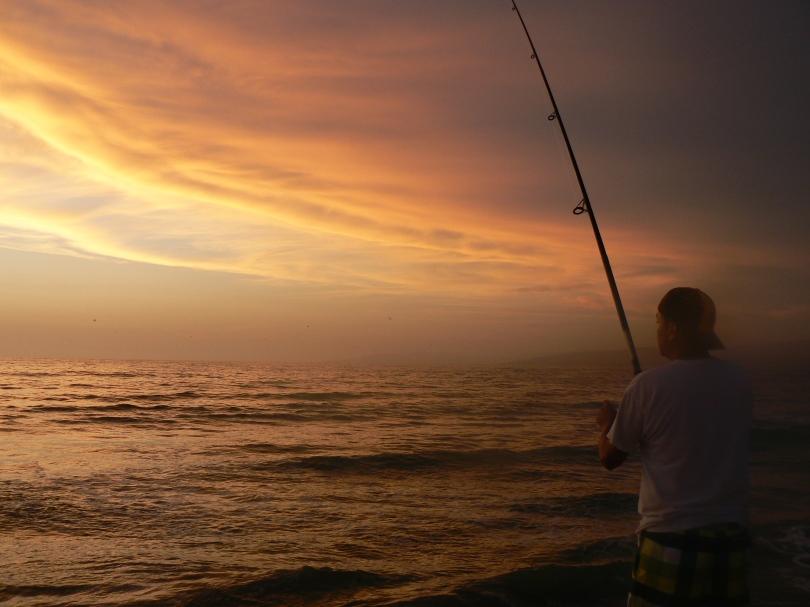 fisherman with amazing views