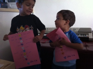 boys, Valentine craft