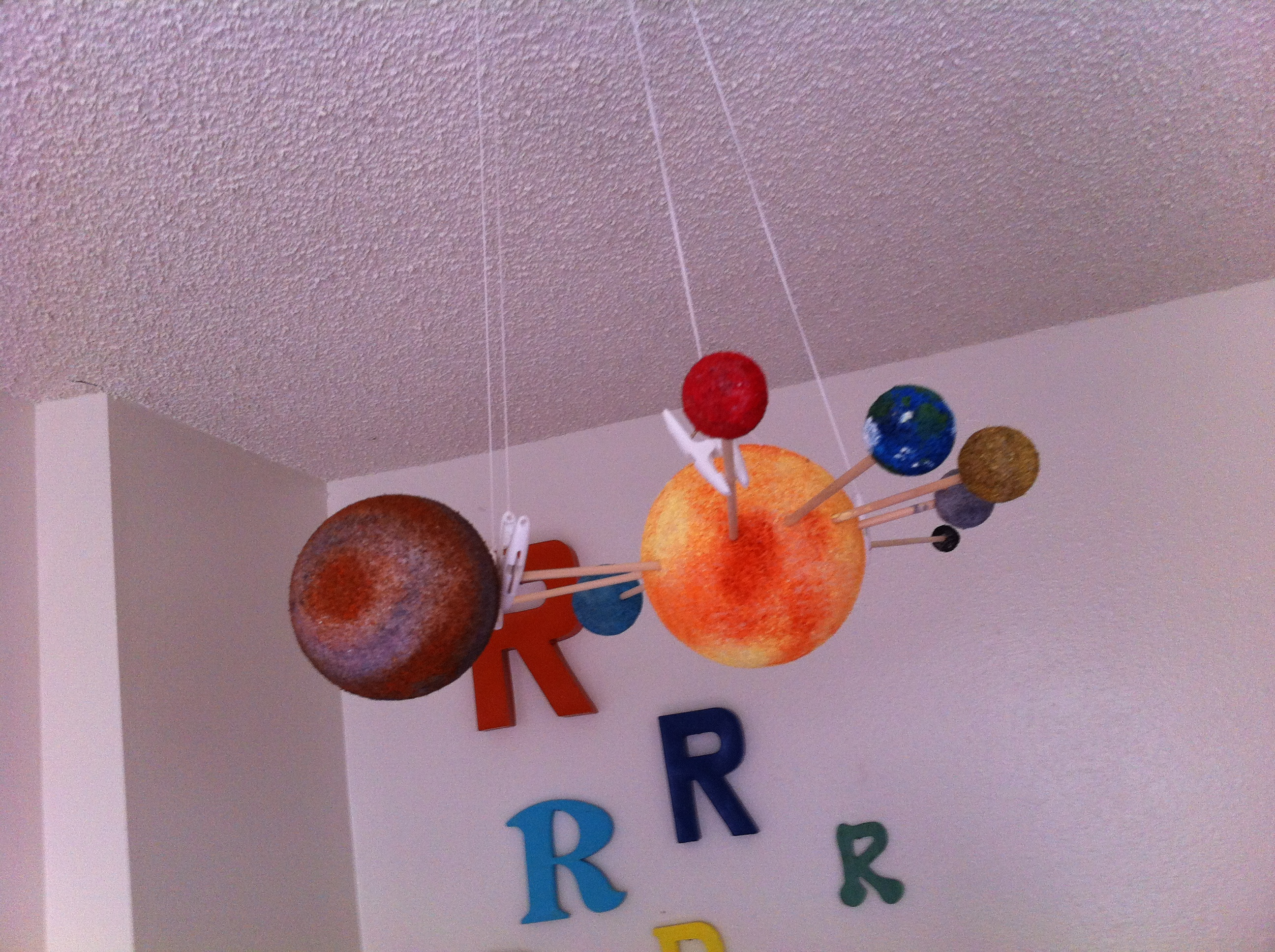 handmade solar system mobile - photo #8